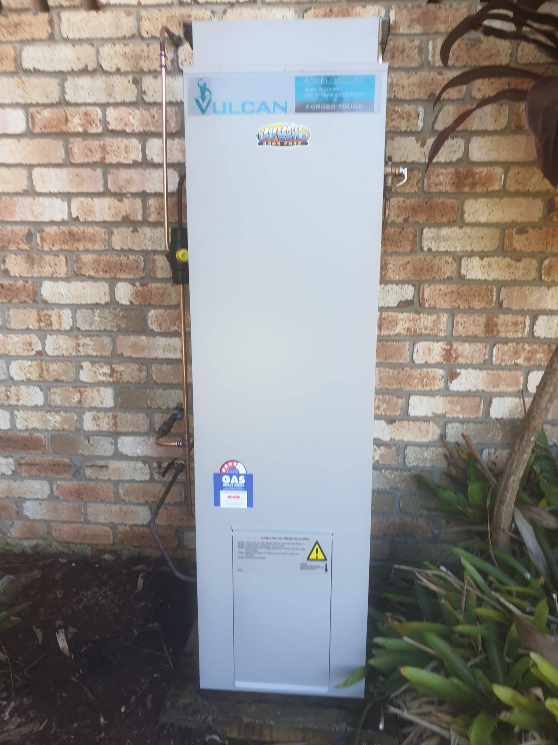 Vulcan Gas Hot Water Install Killcare