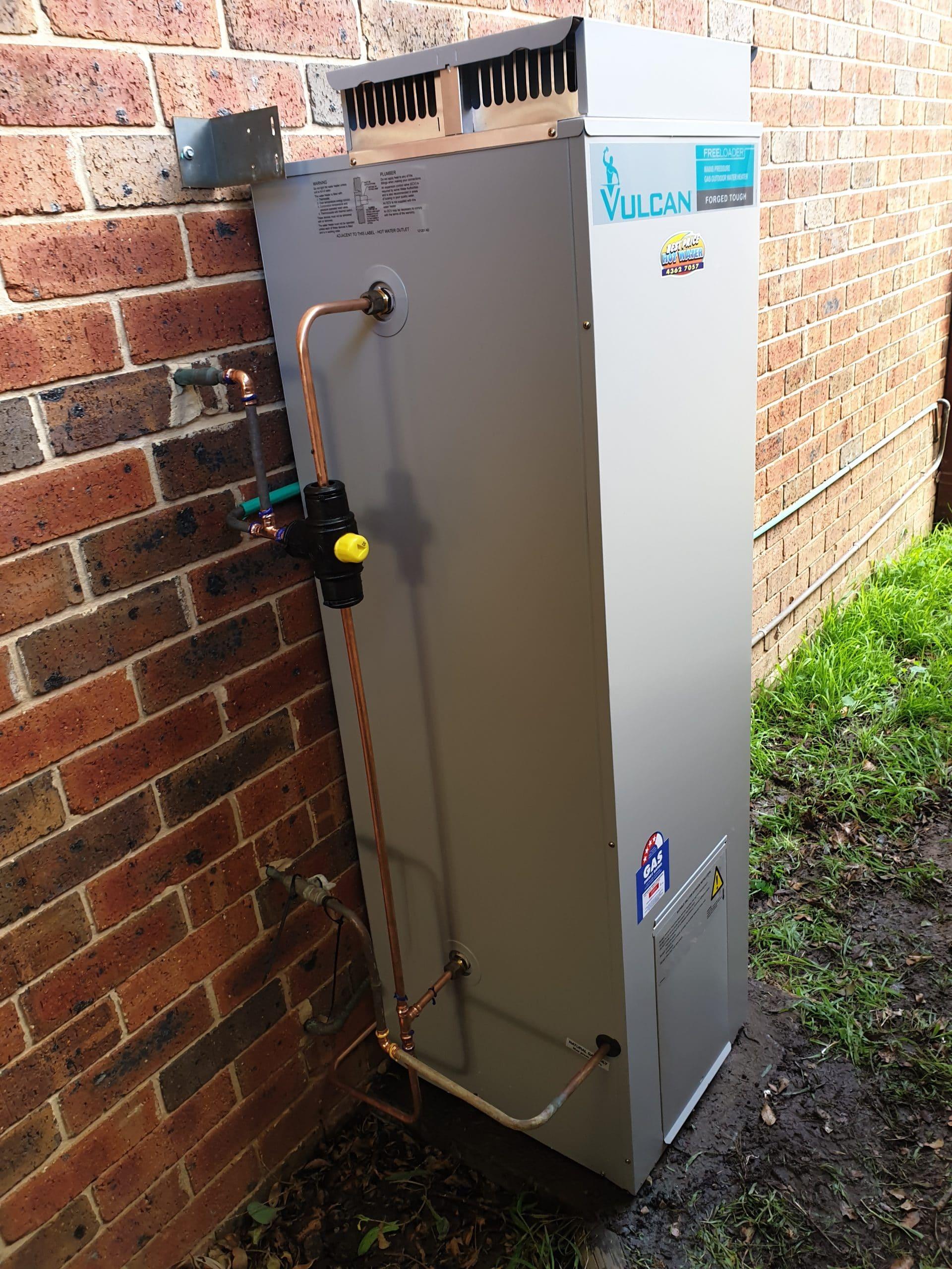 Vulcan Gas Hot Water Install Gosford