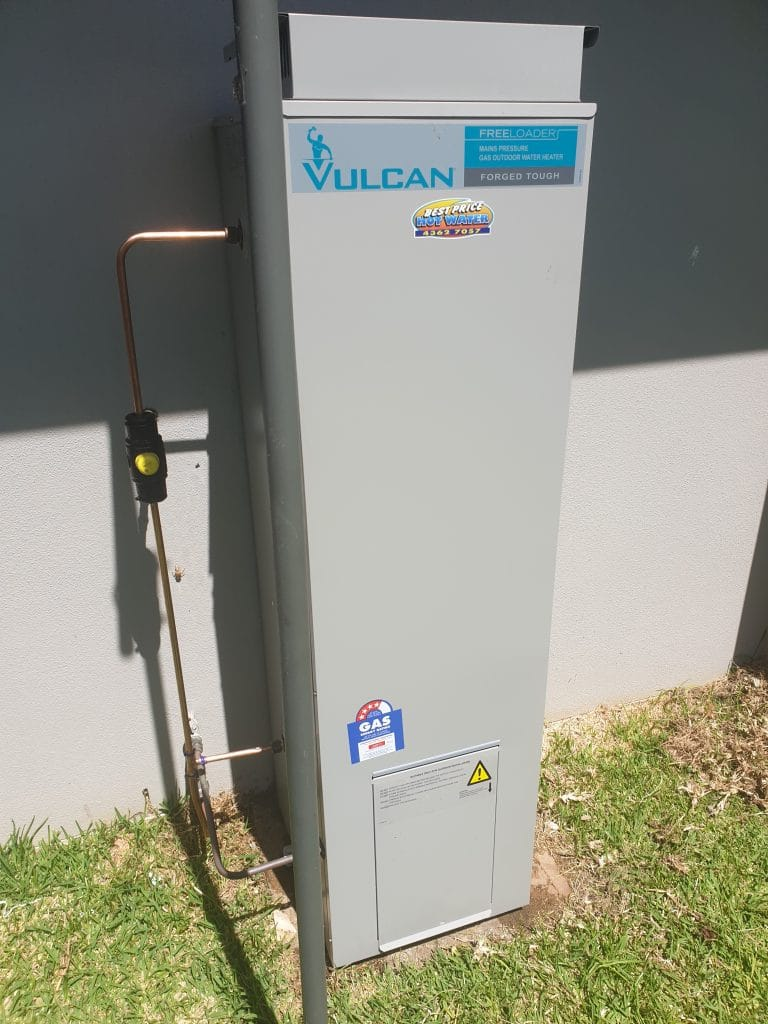 Vulcan 135L Gas Hot Water System @ Palmdale